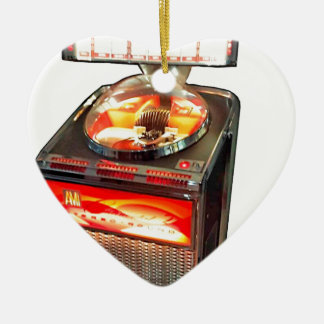 AMI Continental 2 Jukebox Double-Sided Heart Ceramic Christmas Ornament