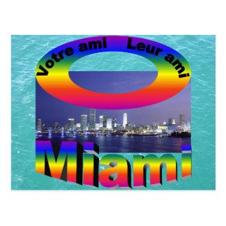 Ami de Votre, ami del leur - Miami Tarjeta Postal