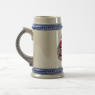 Amiable Atheist Peacock Beer Stein
