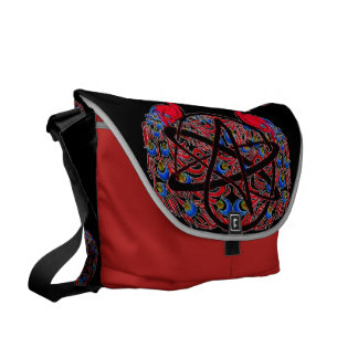 Amiable Atheist Peacock Courier Bag