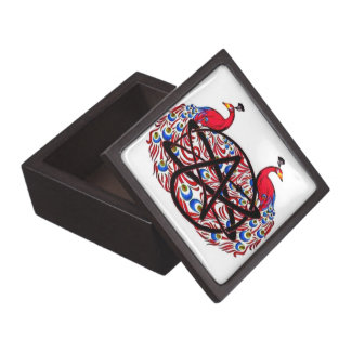Amiable Atheist Peacock Jewelry Box