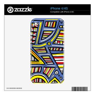 Amiable Restored Bubbly Hard-Working iPhone 4S Skin