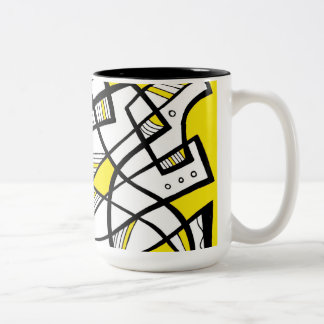 Amicable Ecstatic Diligent Flourishing Two-Tone Coffee Mug