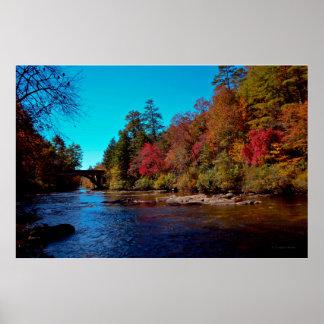 Amicalola River, Georgia, Autumn 2014 Poster