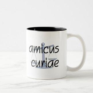 Amicus Curiae.  Lawyer mug with Latin Phrase.