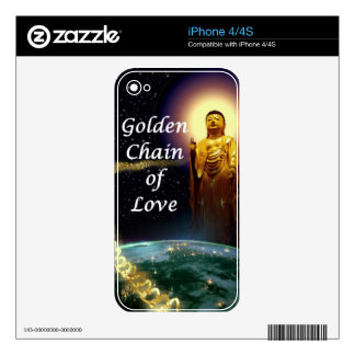 Amida s Golden Chain of Love 3 Decal For iPhone 4