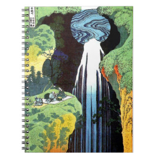 Amida Waterfall, Hokusai Japanese Fine Art Notebook