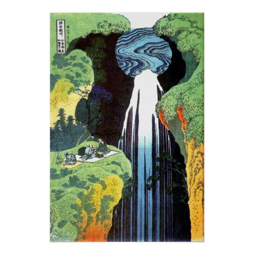 Amida Waterfall on the Kisokaido Road Poster