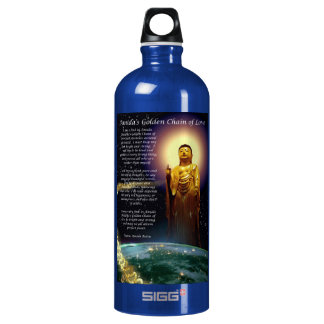 Amida's Golden Chain of Love 1 Aluminum Water Bottle