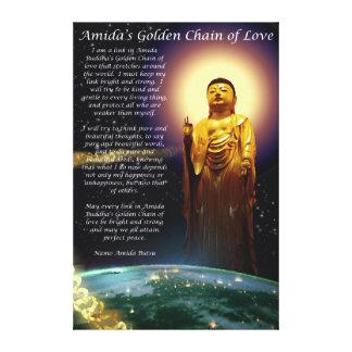 Amida's Golden Chain of Love 1 Canvas Print