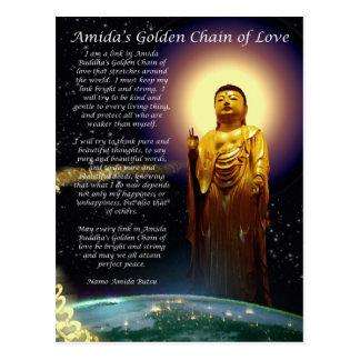Amida's Golden Chain of Love 1 Postcard