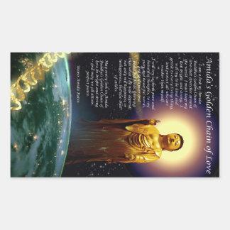 Amida's Golden Chain of Love 1 Rectangular Sticker