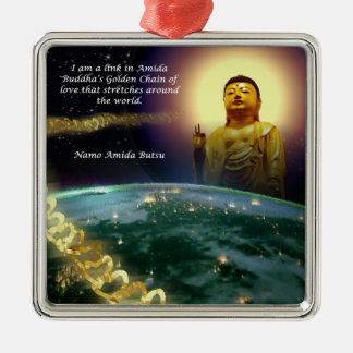 Amida's Golden Chain of Love 2 Metal Ornament