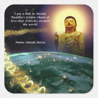 Amida's Golden Chain of Love 2 Square Sticker