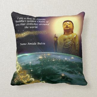 Amida's Golden Chain of Love 2 Throw Pillow