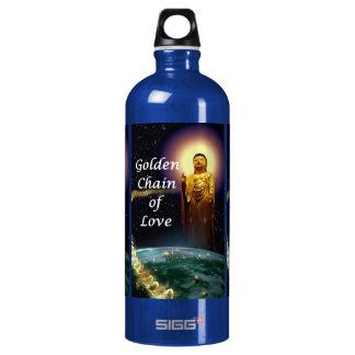 Amida's Golden Chain of Love 3 Aluminum Water Bottle
