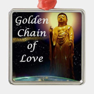 Amida's Golden Chain of Love 3 Metal Ornament