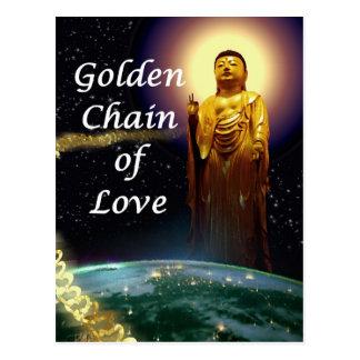 Amida's Golden Chain of Love 3 Postcard