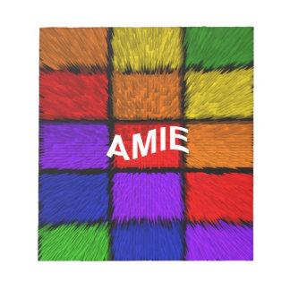 AMIE ( female names ) Notepad