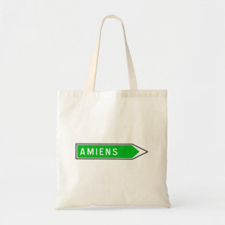 Amiens, Road Sign, France Canvas Bags