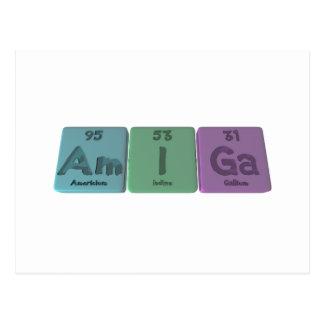 Amiga-Am-I-Ga-Americium-Iodine-Gallium Postcard