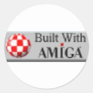 AMIGA COMPUTERS CLASSIC ROUND STICKER