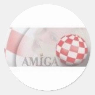 amiga retro classic round sticker