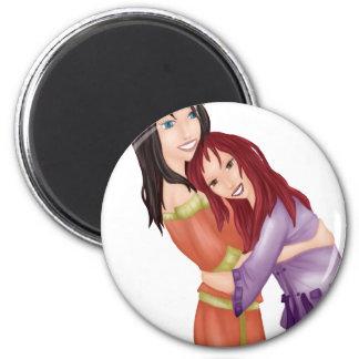 amigas 2 inch round magnet