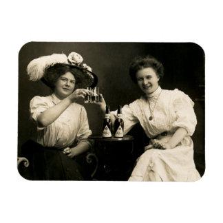 Amigas de consumición 1905 de la cerveza imanes de vinilo