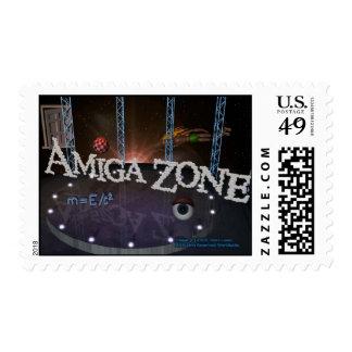 AMIGAZONE POSTAGE STAMP
