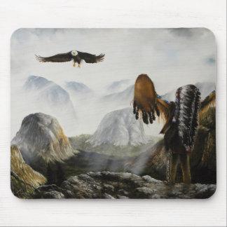 Amigo agradable de Painting~ del nativo americano Tapetes De Ratones