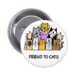 Amigo al botón de los gatos pins
