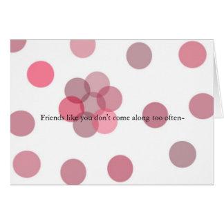 Amigo burbujeante tarjeta de felicitación