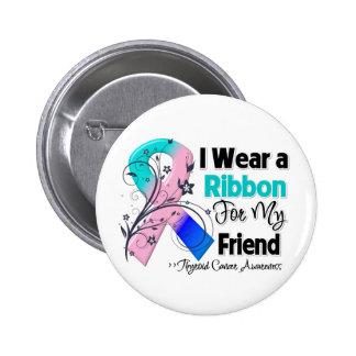 Amigo - cinta del cáncer de tiroides pin redondo 5 cm