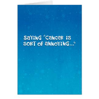 Amigo con la afirmación del cáncer tarjeta de felicitación