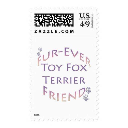 Amigo de Furever del fox terrier del juguete Sello