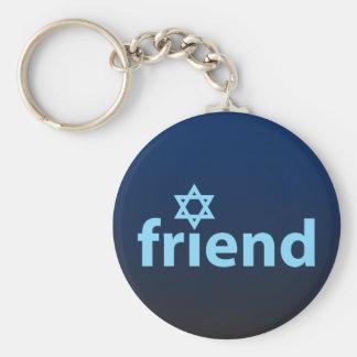 Amigo de Israel Llavero Redondo Tipo Pin