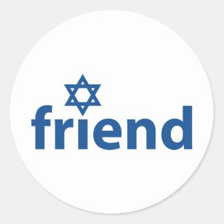 Amigo de Israel Pegatinas Redondas
