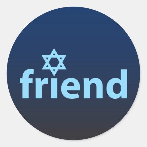Amigo de Israel Pegatina Redonda