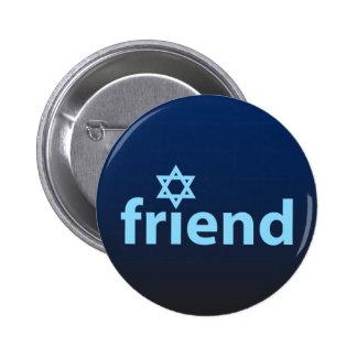Amigo de Israel Pin Redondo De 2 Pulgadas