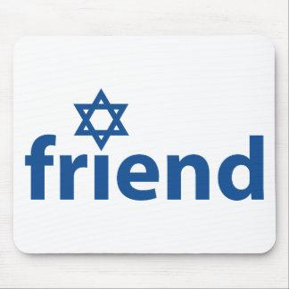 Amigo de Israel Alfombrillas De Ratón