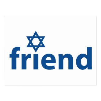 Amigo de Israel Tarjeta Postal