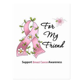Amigo de la ayuda del cáncer de pecho postales
