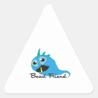 Amigo de la bestia pegatina de triangulo