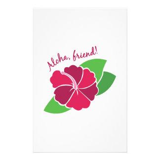 Amigo de la hawaiana papeleria personalizada