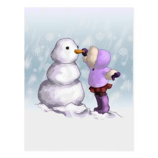 Amigo de la nieve tarjeta postal
