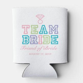 Amigo de la novia el | del equipo de la novia enfriador de latas