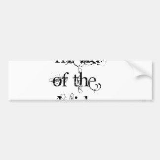 Amigo de la novia etiqueta de parachoque