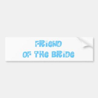 Amigo de la novia pegatina de parachoque