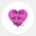 Amigo de la novia pegatinas